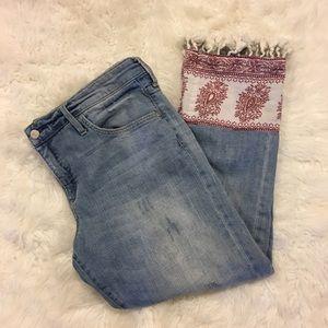 Anthropologie Women's Size 32 Boho Crop Jeans